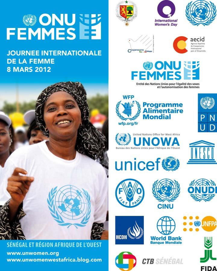 Plakat der UN zum internationalen Frauentag in West Africa von