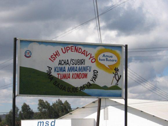 Schild bei GTZ Mbeya 3