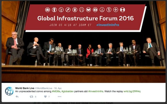 Ein #allmalepanel (Quelle: World Bank, https://twitter.com/WorldBankLive/status/721460689236271104)